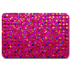 Polka Dot Sparkley Jewels 1 Large Door Mat by MedusArt