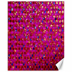 Polka Dot Sparkley Jewels 1 Canvas 11  X 14  (unframed) by MedusArt