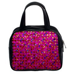 Polka Dot Sparkley Jewels 1 Classic Handbag (two Sides) by MedusArt
