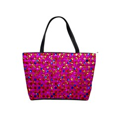 Polka Dot Sparkley Jewels 1 Large Shoulder Bag by MedusArt