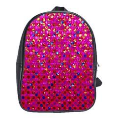 Polka Dot Sparkley Jewels 1 School Bag (large) by MedusArt