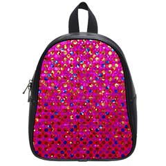 Polka Dot Sparkley Jewels 1 School Bag (small) by MedusArt