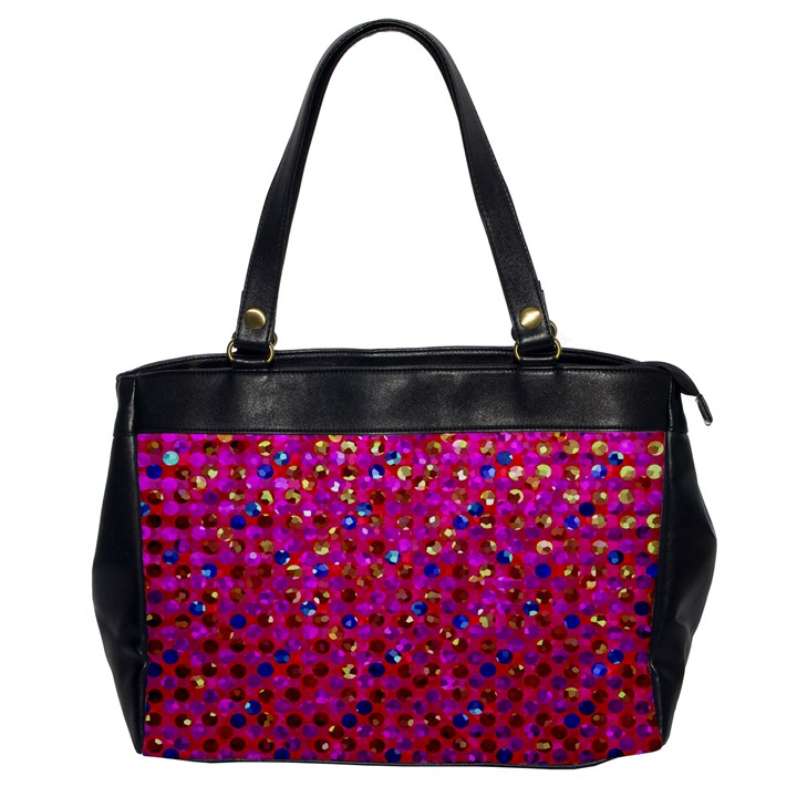 Polka Dot Sparkley Jewels 1 Oversize Office Handbag (One Side)