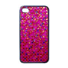 Polka Dot Sparkley Jewels 1 Apple Iphone 4 Case (black) by MedusArt