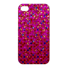 Polka Dot Sparkley Jewels 1 Apple Iphone 4/4s Hardshell Case by MedusArt