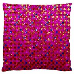 Polka Dot Sparkley Jewels 1 Large Cushion Case (single Sided)  by MedusArt