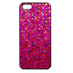 Polka Dot Sparkley Jewels 1 Apple Iphone 5 Seamless Case (black) by MedusArt