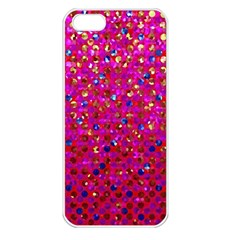 Polka Dot Sparkley Jewels 1 Apple Iphone 5 Seamless Case (white) by MedusArt