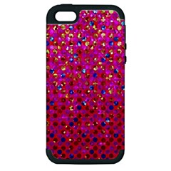 Polka Dot Sparkley Jewels 1 Apple Iphone 5 Hardshell Case (pc+silicone) by MedusArt