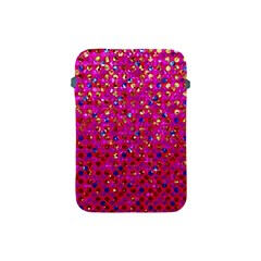Polka Dot Sparkley Jewels 1 Apple Ipad Mini Protective Sleeve by MedusArt