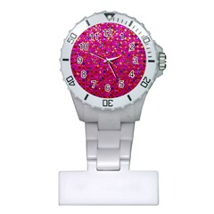Polka Dot Sparkley Jewels 1 Nurses Watch by MedusArt