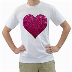 Polka Dot Sparkley Jewels 1 Men s T Shirt (white)  by MedusArt