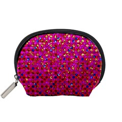 Polka Dot Sparkley Jewels 1 Mini Zipper Pouch by MedusArt