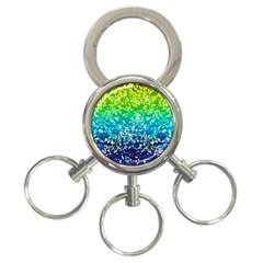Glitter 4 3 Ring Key Chain by MedusArt