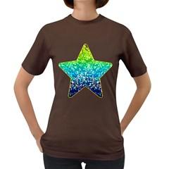 Glitter 4 Women s T Shirt (colored) by MedusArt