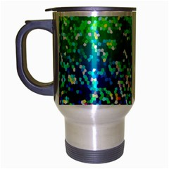 Glitter 4 Travel Mug (silver Gray) by MedusArt