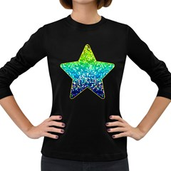 Glitter 4 Women s Long Sleeve T Shirt (dark Colored) by MedusArt