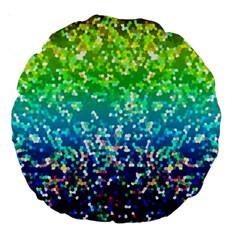 Glitter 4 18  Premium Round Cushion  by MedusArt