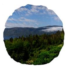 Newfoundland 18  Premium Round Cushion  by DmitrysTravels