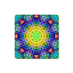 Psychedelic Abstract Magnet (square) by Colorfulplayground