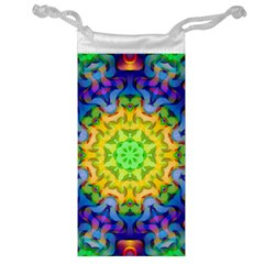 Psychedelic Abstract Jewelry Bag by Colorfulplayground