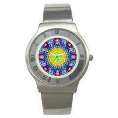 Psychedelic Abstract Stainless Steel Watch (slim)