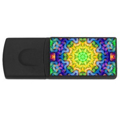 Psychedelic Abstract 4gb Usb Flash Drive (rectangle) by Colorfulplayground