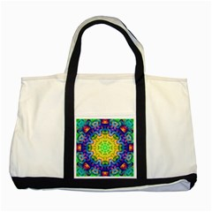 Psychedelic Abstract Two Toned Tote Bag by Colorfulplayground