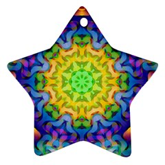 Psychedelic Abstract Star Ornament (two Sides) by Colorfulplayground