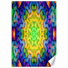 Psychedelic Abstract Canvas 12  X 18  (unframed) by Colorfulplayground