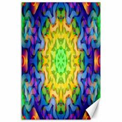 Psychedelic Abstract Canvas 24  X 36  (unframed) by Colorfulplayground
