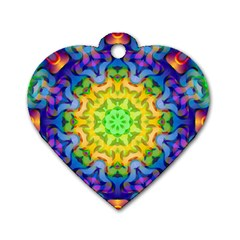 Psychedelic Abstract Dog Tag Heart (Two Sided)