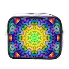Psychedelic Abstract Mini Travel Toiletry Bag (one Side) by Colorfulplayground
