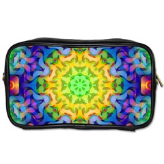 Psychedelic Abstract Travel Toiletry Bag (two Sides) by Colorfulplayground
