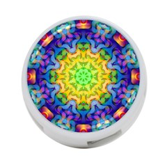 Psychedelic Abstract 4 Port Usb Hub (one Side) by Colorfulplayground