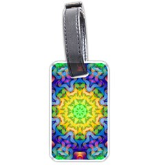 Psychedelic Abstract Luggage Tag (two Sides) by Colorfulplayground