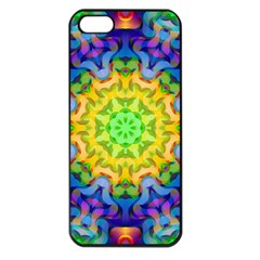 Psychedelic Abstract Apple Iphone 5 Seamless Case (black) by Colorfulplayground