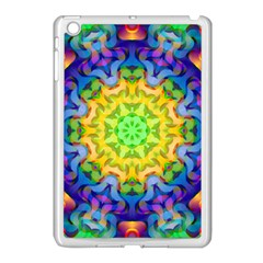 Psychedelic Abstract Apple Ipad Mini Case (white) by Colorfulplayground