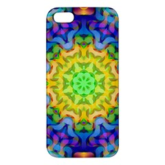 Psychedelic Abstract Apple Iphone 5 Premium Hardshell Case by Colorfulplayground