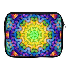 Psychedelic Abstract Apple Ipad Zippered Sleeve by Colorfulplayground