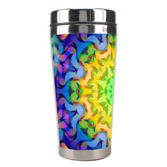 Psychedelic Abstract Stainless Steel Travel Tumbler by Colorfulplayground