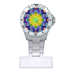 Psychedelic Abstract Nurses Watch by Colorfulplayground