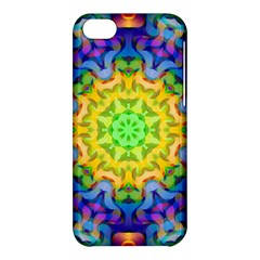 Psychedelic Abstract Apple Iphone 5c Hardshell Case by Colorfulplayground