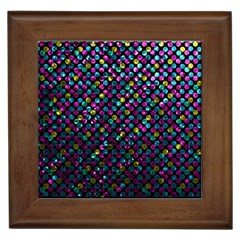 Polka Dot Sparkley Jewels 2 Framed Ceramic Tile by MedusArt