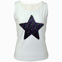 Polka Dot Sparkley Jewels 2 Women s Tank Top (white) by MedusArt