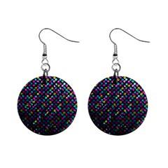 Polka Dot Sparkley Jewels 2 Mini Button Earrings by MedusArt