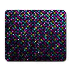 Polka Dot Sparkley Jewels 2 Large Mouse Pad (rectangle) by MedusArt