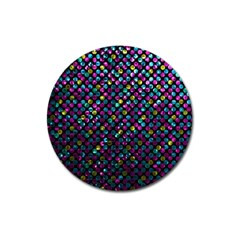 Polka Dot Sparkley Jewels 2 Magnet 3  (round) by MedusArt