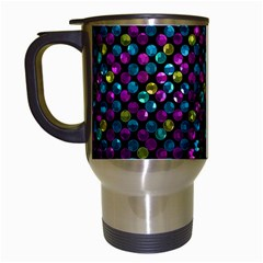 Polka Dot Sparkley Jewels 2 Travel Mug (white) by MedusArt