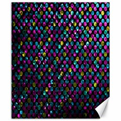 Polka Dot Sparkley Jewels 2 Canvas 8  X 10  (unframed) by MedusArt